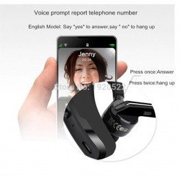 V8 Bluetooth Headset Wireless Earphone V4.1 Ear Hook Voice Control Support 2 Cell Phones at one Time With MIC