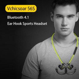 Vchicsoar 56S Bluetooth Earphone Sports Running Wireless Headset V4.1 Stereo Bass Portable Ear Hook Earphones with Microphone