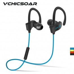 Vchicsoar 56S Bluetooth Earphone Sports Running Wireless Headset V4.1 Stereo Bass Portable Ear Hook Earphones with Microphone