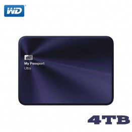 WD My Passport Ultra Metal External Hard Drive Disk HD Portable HDD 4TB High Capacity SATA 3 USB 3.0 Storage Device Original