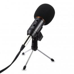 YALI MK-F200FL Audio Sound Recording Condenser Microphone with Shock Mount Holder Clip with locking knob 3.5mm aux jack