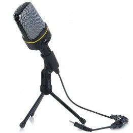 Yanmai New Fashionable Condenser Sound Wired Microphone with Stand Holder Clip for PC Laptop Skype Recording /Internet Singing