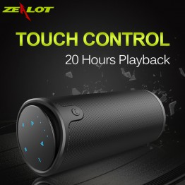 ZEALOT S8 HiFi Stereo Wireless Bluetooth Speaker Touch Control 3D Surround Sound Sport Subwoofer Support TF Card AUX Handsfree