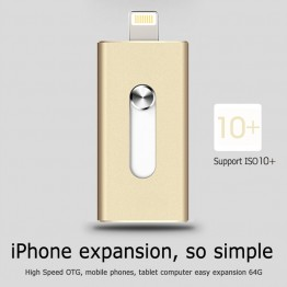 i-Flash Drive 8gb 32gb 64gb Mini Usb Metal Pen Drive /Otg Usb Flash Drive For iPhone 5/5s/5c/6/6 Plus/7/ipad Pendrive